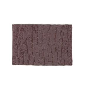 今治タオルバスマット/フロアマット【35cm×50cmブラウン】長方形日本製綿100%『WOOD』〔風呂洗面所〕