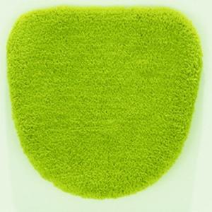 デザインライフ トイレフタカバー 洗浄用 VIF 48×49cm グリーン - 拡大画像