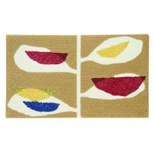 デザインライフ 玄関マット 室内/屋内用 KAJYUEN(カジュエン) 45×75cm ベージュの詳細を見る
