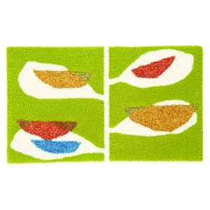 デザインライフ 玄関マット 室内/屋内用 KAJYUEN(カジュエン) 45×75cm グリーンの詳細を見る
