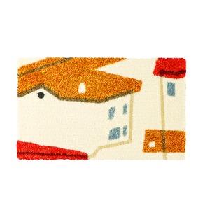 デザインライフ 玄関マット 室内/屋内用 YANEIRO(ヤネイロ) 45×75cm オレンジの詳細を見る