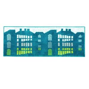 デザインライフ キッチンマット TATEMONO(タテモノ) 45×180cm ブルーグリーンの詳細を見る