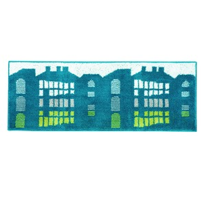 デザインライフ キッチンマット TATEMONO(タテモノ) 45×240cm ブルーグリーンの詳細を見る