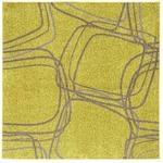 【送料無料】ホット&クール ナイロンラグ レシェ 200×200cm イエローグリーンの画像