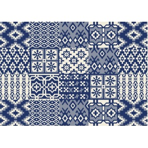 防ダニ洗えるラグ トカーニ 130×185cm ブルー
