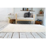 ミックスシャギー ラグマット/絨毯 【190cm×190cm パールアイボリー】 正方形 洗える 防ダニ 防滑 床暖房対応 『グレイド』