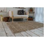 ミックスシャギー ラグマット/絨毯 【190cm×190cm サンドベージュ】 正方形 洗える 防ダニ 防滑 床暖房対応 『グレイド』