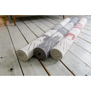 ゴブランシェニール ラグマット/絨毯 【130cm×190cm ピンク】 長方形 洗える スミノエ 『ルーラル』 〔リビング〕