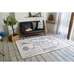 ゴブランシェニール ラグマット/絨毯 【190cm×190cm チャコール】 正方形 洗える スミノエ 『ルーラル』 〔リビング〕