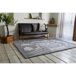 ゴブランシェニール ラグマット/絨毯 【190cm×190cm グレー】 正方形 洗える スミノエ 『ルーラル』 〔リビング〕