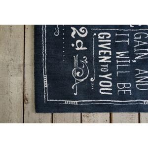 ヴィンテージ風 ラグマット/絨毯 【130cm×190cm ブルー】 長方形 マイクロファイバー 『ノイル』 〔リビング〕