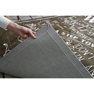 ヴィンテージ風 ラグマット/絨毯 【130cm×190cm ブラウン】 長方形 マイクロファイバー 『ノイル』 〔リビング〕