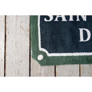 ヴィンテージ調 ラグマット/絨毯 【90cm×130cm グリーン】 長方形 ホットカーペット対応 『ルティエ』 〔リビング〕