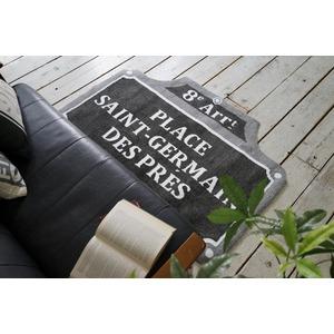 ヴィンテージ調 ラグマット/絨毯 【90cm×130cm グレー】 長方形 ホットカーペット対応 『ルティエ』 〔リビング〕