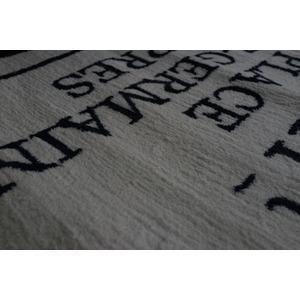 ヴィンテージ調 ラグマット/絨毯 【90cm×130cm ブルー】 長方形 ホットカーペット対応 『ルティエ』 〔リビング〕
