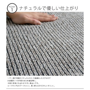 丸洗い対応 ラグマット/絨毯 【185cm×240cm ターコイズ】 長方形 日本製 洗える 折りたたみ 軽量 カット可 『カルル』