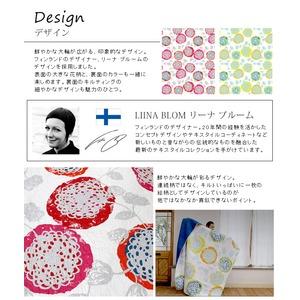 北欧デザイン マルチカバー 【190cm×190cm レッド】 正方形 綿100% 洗える キルティング クッカ 『トシシミズ』