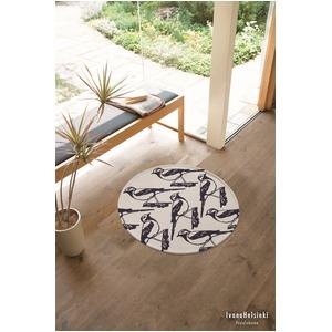 北欧 ラグマット/絨毯 【直径60cm グレー】 円形 防滑 リントゥ 『イヴァナヘルシンキ』 〔リビング〕