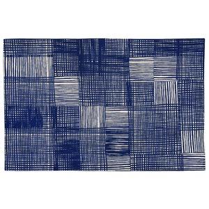 北欧 ラグマット/絨毯 【130cm×190cm ネイビー】 長方形 防滑 ルールッカ 『イヴァナヘルシンキ』 〔リビング〕