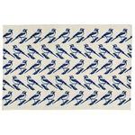 北欧 ラグマット/絨毯 【130cm×190cm ネイビー】 長方形 防滑 リントゥ 『イヴァナヘルシンキ』 〔リビング〕