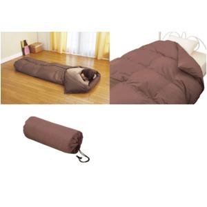 羽毛寝袋(シュラフ) ブラウン系の写真1