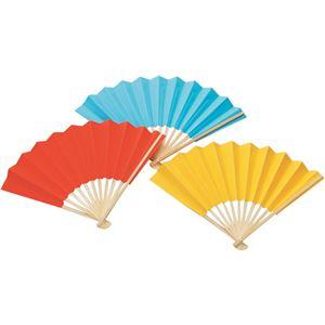 (まとめ)アーテック カラー扇子/せんす 柄:竹 ブルー(青) 【×40セット】