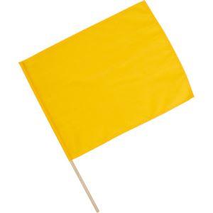 (まとめ)アーテック旗/フラッグ【小】410×300mmポリエステル・綿製イエロー(黄)【×40セット】