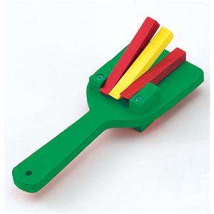 (まとめ)アーテック カラー鳴子/なるこ 【両面タイプ】 木製 裏表3連バチ付き グリーン(緑) 【×30セット】