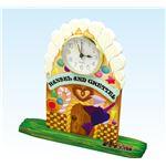 (まとめ)アーテック 木彫卓上時計(しな材)アラーム付 金 【×5セット】