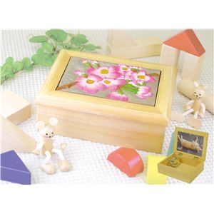 (まとめ)アーテック プリティウッドボックス 木彫板付 ナチュラル 【×15セット】