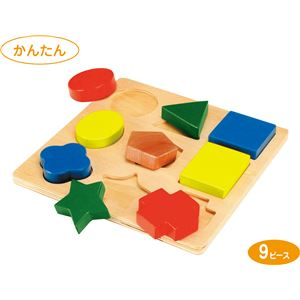 (まとめ)アーテック 形あわせパズル C(木製玩具) 【×36セット】