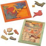 (まとめ)アーテック 木彫パズル(額・組立済) 【×10セット】