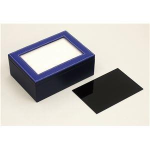 (まとめ)アーテック レザー調小物入れアートガラス 【×40セット】