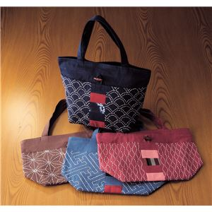 (まとめ)アーテック 刺し子のトートバッグ 4種取混 【×15セット】