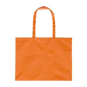 (まとめ)アーテック 作品収納バッグ/トートバッグ 【大】 マチ付き 不織布製 オレンジ 【×40セット】 - 拡大画像