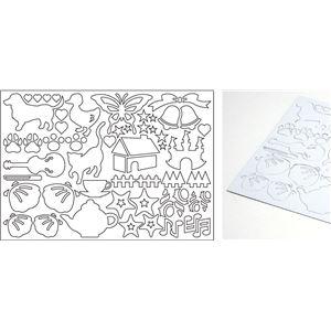 (まとめ)アーテック 銅箔クラフト用切り文字 動物&図形 【×60セット】