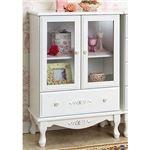 ピュアホワイトアンティーク飾り家具 4: キャビネット