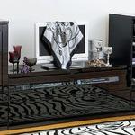 ブラックガラス家具シリーズ 1:テレビボード幅120cm