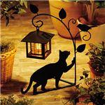 黒猫ガーデンシリーズ 1:ソーラーライト1灯1匹