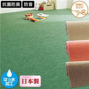 『防音』『撥水』『抗菌防臭』ループカーペット 1: 江戸間2畳 ピンクの詳細を見る