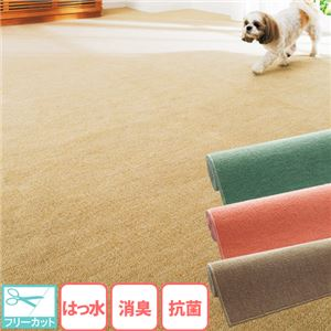 『消臭』『抗菌』『撥水』ループカーペット 3: 江戸間4.5畳 ブラウンの詳細を見る