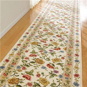 ゴブラン調シェニール織廊下敷 1: マット 約80×50cm ベージュの詳細を見る