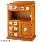 サイドボード/リビングボード (南欧風家具) 【3: 幅60cm】 木製 ホワイトウォッシュ 【完成品】