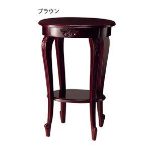 デザイン家具シリーズ「サラ」 4: 花台 ブラウン - 拡大画像