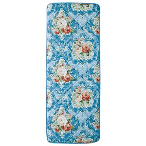 固わた入り 大判ごろ寝 長座布団 (70cm×180cm) 日本製 ブルー(青)