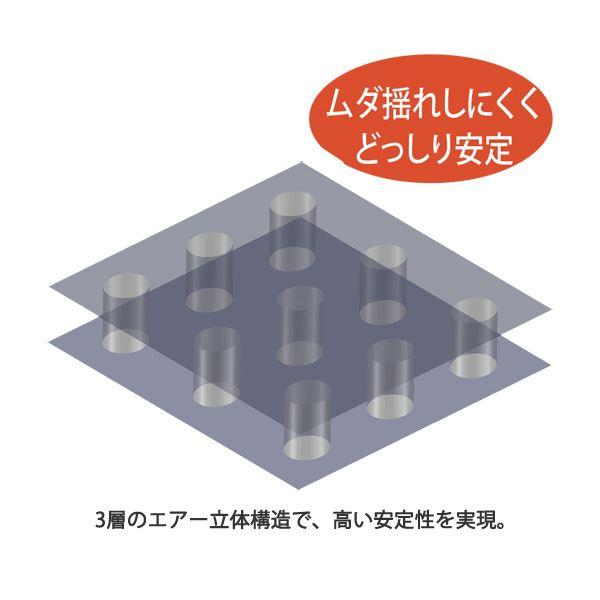 3層のエアー立体構造ですぐれた安定感を実現