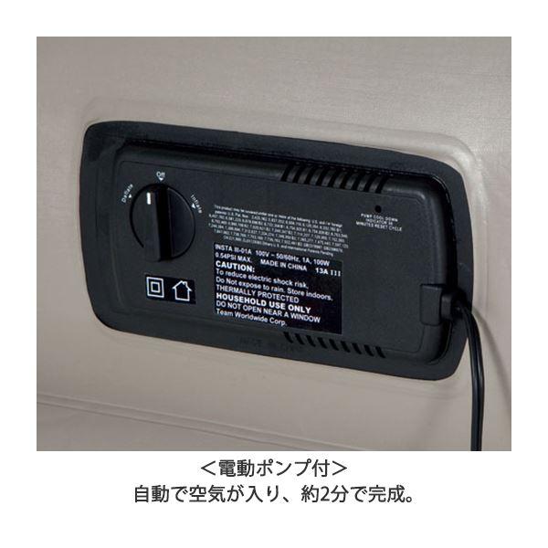 電動ポンプ付なので膨らますのも空気抜きも自動でらくらく!