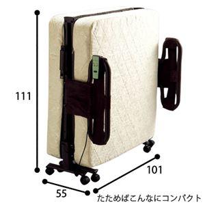 折りたたみ式リクライニング電動ベッド 【2: シングル/ポケットコイルタイプ】 安全ネット/手すり付き 【完成品】
