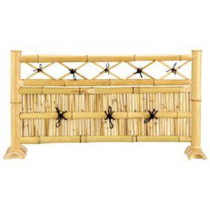 和風竹製フェンス(パーテーション/ 衝立) 【3枚組/丸竹タイプ】 高さ50cm 〔屋外/玄関/庭園〕