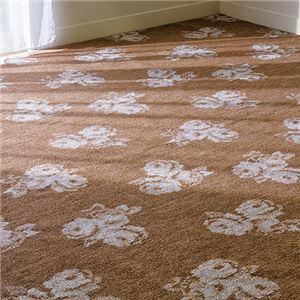 撥水加工タフトカーペット 5: 江戸間8畳 ブラウンローズの詳細を見る